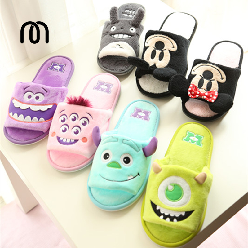 Spring New cute panda cartoon series striped padded mitts slippers floor at home slipper lady shoes house of steel padded leather mitts черные перчатки для подвешивания