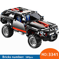 3341 Transport Cruiser SUV 589pcs Racing Car Model Building Block Sets Educational DIY Bricks Toys DIY Free Shipping