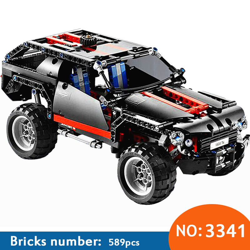 DECOOL 3341 Transport Cruiser SUV 589pcs Racing Car Model Building Block Sets Educational DIY Bricks Toys DIY Free Shipping 608pcs race truck car 2 in 1 transformable model building block sets decool 3360 diy toys compatible with 42041