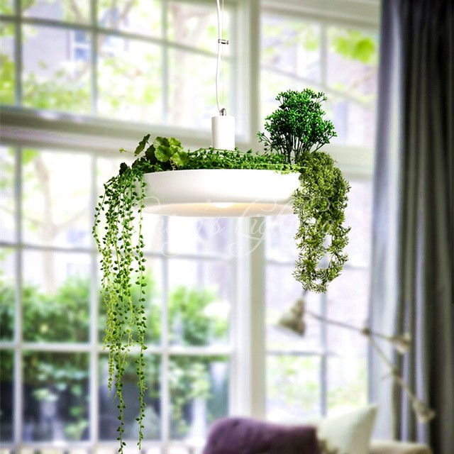 Hanging Outdoor Lights Without Trees: LED Hanging Gardens Of Babylon Plants Lamp Pots Potted