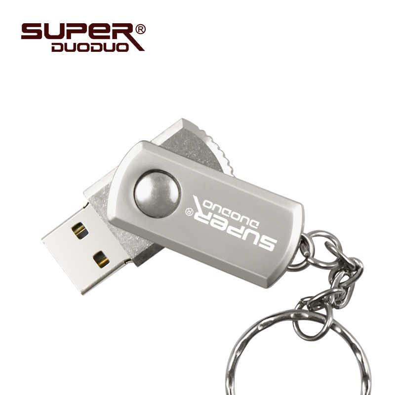 Superduoduo 32 Гб 128 ГБ 8 ГБ 16 ГБ металлический Серебряный usb флеш-накопитель 64 ГБ флеш-накопитель u диск 64 Гб с кольцом для ключей usb 2,0
