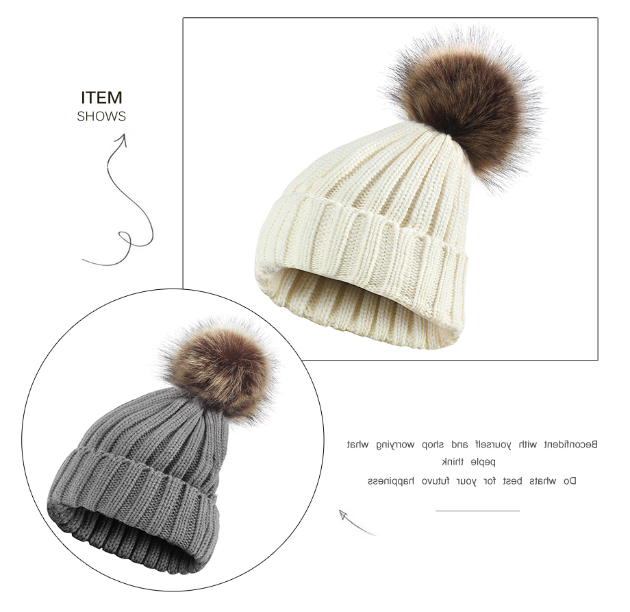 0f5452ad57087c 2019 ADK Female'S Solid Color Hat PomPoms 2018 New Fashion Casual ...