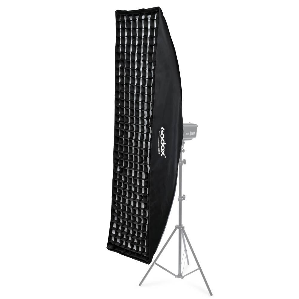 """Alienbees Softbox: Godox 35x160cm / 14""""x63"""" Honeycomb Grid Softbox For"""