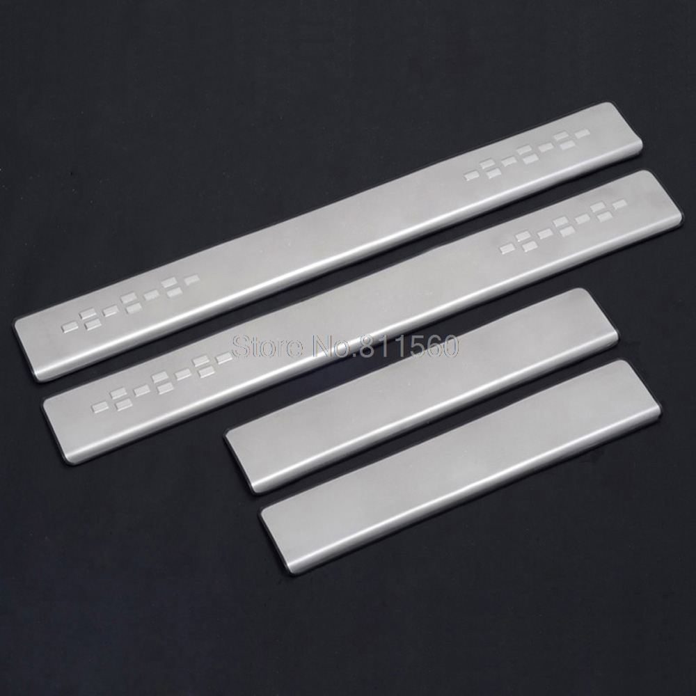 For toyota corolla 11th 2013 2014 side door sill protector pedals scuff plate guards sills trim