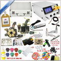 Professional Complete tattoo kit set 2 Tattoo Machine Gun Kit Supply tattoo dc power supply  and 14pcs tattoo ink 5ml