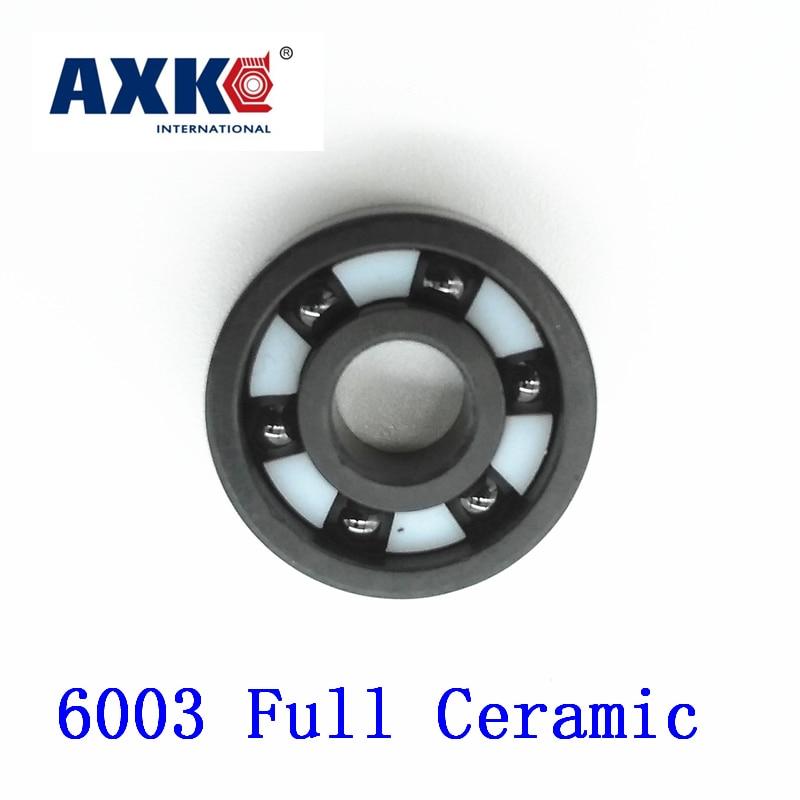 2018 Rodamientos Axk 6003 Full Ceramic Bearing ( 1 Pc ) 17*35*10 Mm Si3n4 Material 6003ce All Silicon Nitride Ball Bearings 1 pc 6003 full ceramic si3n4 17x35x10 17mm 35mm 10mm si3n4 ceramic ball bearing