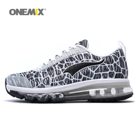 ONEMIX Men Running Shoes Breathable Outdoor Walking Sport Shoes Mens Athletic Sports Sneakers size 39 46 for jogging trekking