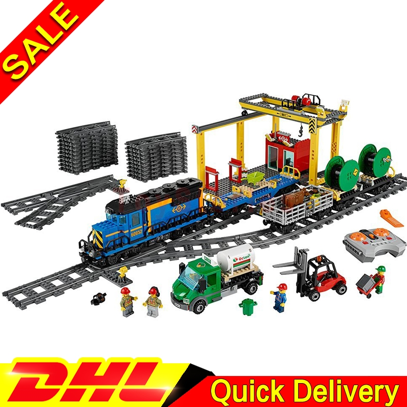 IN STOCK lepin 02008 The Cargo Train 959Pcs City KIts Building Blocks Bricks Educational legoings Toys Children Christmas Gift in stock lepin 02012 774pcs city series deepwater exploration vessel children educational building blocks bricks toys model gift