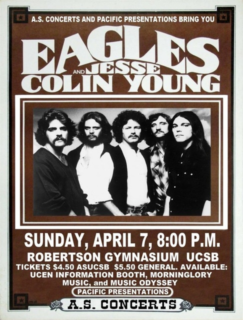 Eagles And Jesse Colin Young Rock Music Band Poster Vintage Retro Canvas DIY Wall Paper