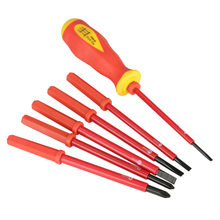 7pcs/set Electrician Screwdrivers Multifunction Insulated Slot Cross Screwdrivers Set High Voltage Resistant Screwdrivers Bits(China)