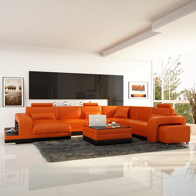 China Modern Orange Living Room Sofa