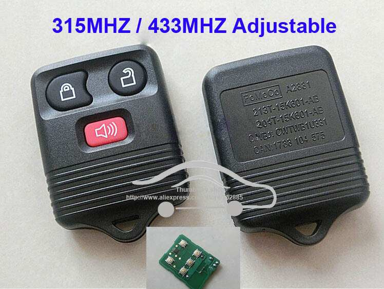 Remote Key 3 Buttons For Ford Remote Control with electronics and battery 433mhz and 315mhz Adjustable & Compare Prices on Ford Key Remote- Online Shopping/Buy Low Price ... markmcfarlin.com