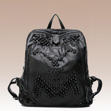 Newhotstacy мешок 111416 женщин новый geniniune кожа рюкзак мода двойной shoudler мешок
