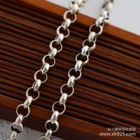 925 silver necklace thick 3.5 mm female 66 cm long necklace