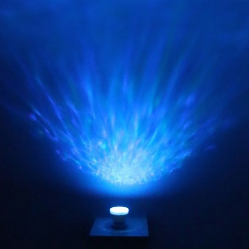 LED Night Light Starry Sky Ocean Wave Light Projector Lamp with Music MP3 Speaker Novelty Baby Night Beside Lamp Romantic Gifts