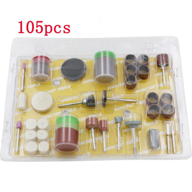 105Pcs Multi Purpose DIY Assortment Abrasive Bit Set For DREMEL Rotary Tool Set 1/8 Shank Polishing Accessary