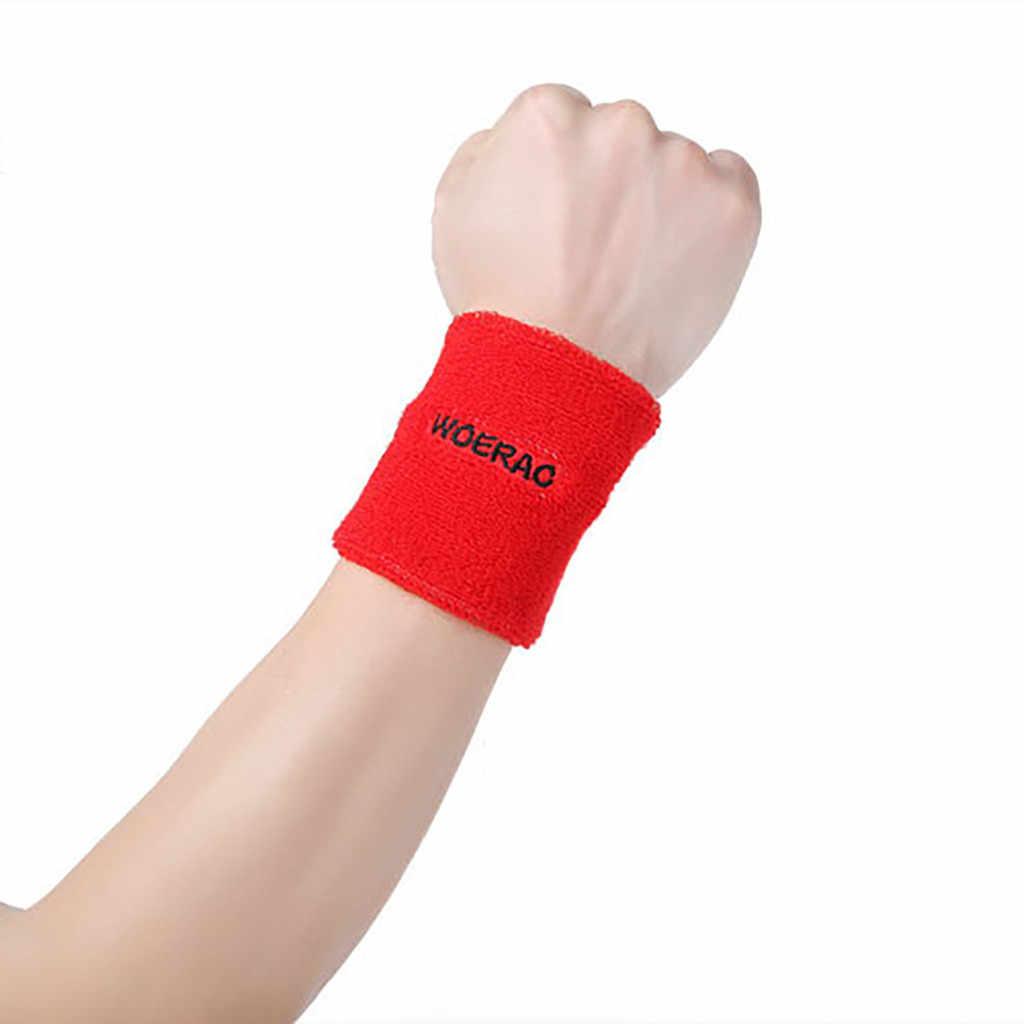1 шт. махровые напульсники спортивный напульсник повязка на руку пот Скоба для запястья обмотка и изоляция для спортзала Волейбол Баскетбол # D