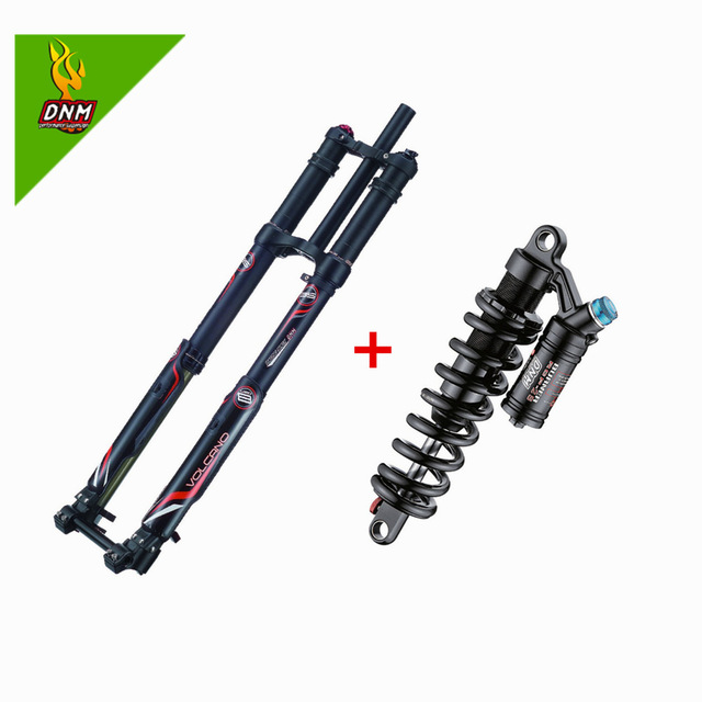 Frete grátis dnm USD-8 suspensão a ar do freio a disco bicicleta elétrica declive forks com dnm durável rcp2s 240mm choque traseiro