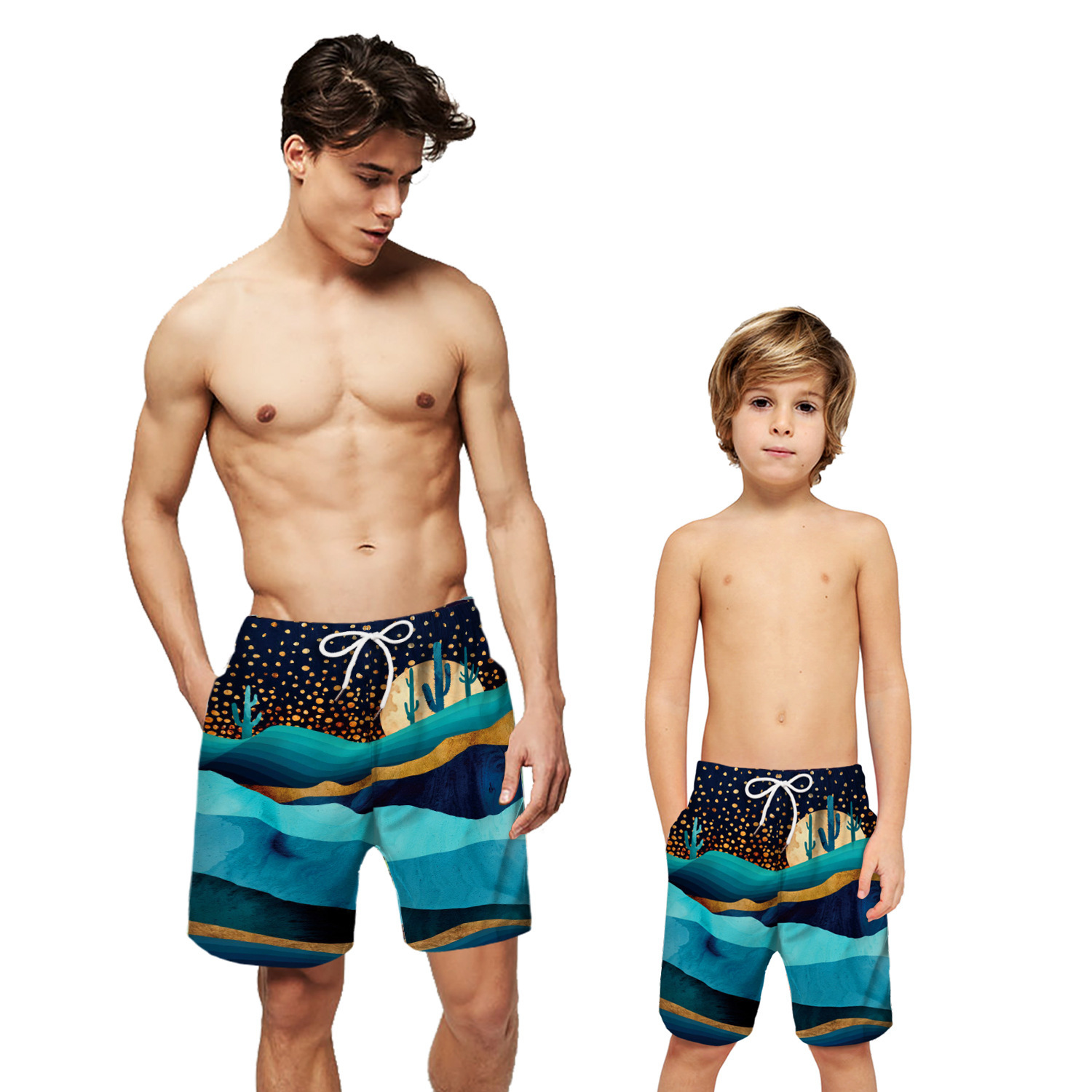 Mountains Print   Board     Short   Men Boy   Board     Shorts   Swimwear Beach Surf Swim Swimming   Shorts   Trunk Lined Water Sport Holiday   Short