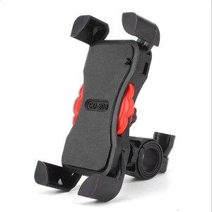 Image 3 - Soporte de teléfono para motocicleta manillar giratorio 360, soporte para teléfono móvil y espejo retrovisor para bicicleta