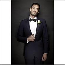 wedding tuxedo dark blue groom wear slim fit suits for beach men suit 2017 custom suit dress