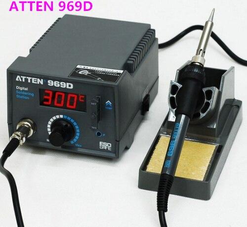 ФОТО 20PCS  220V Atten AT969D 969D Digital Soldering Stations Soldering Irons
