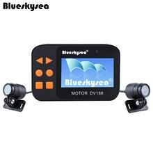 Blueskysea DV188 Action Sports Камера видео DVR велосипед мотоциклетный автомобиля Cam 1080 P Водонепроницаемый Двойной объектив dashcamera видеокамера