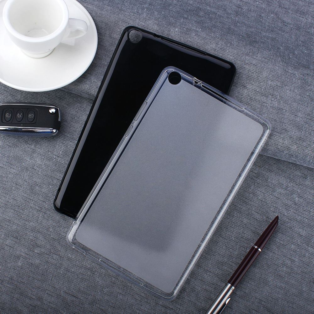Soft Clear Tablet Silicon Cover For Huawei MediaPad M5 Lite 8 8.0 JDN2-W09 JDN2-AL00 Case Coque Funda Protective Shell Black