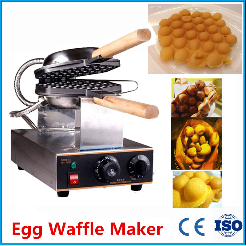 Фотография 1 Piece Digitally Controlled Snack Eggettes Machine Cooking Hong Kong Egg Waffle Maker