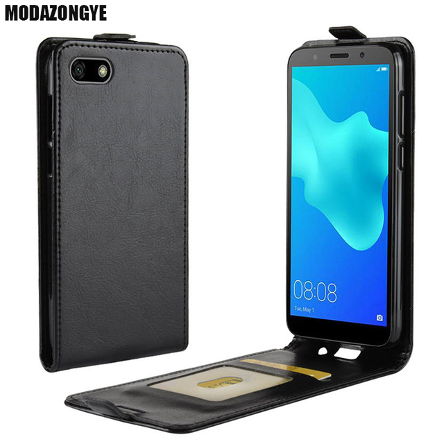 new photos 6d2e2 85d9a US $3.78 10% OFF|Huawei Y5 2018 Case Huawei Y5 Prime 2018 Case PU Leather  Back Cover Phone Case For Huawei Y5 2018 DRA L22 DRA L02 Case Flip-in Flip  ...
