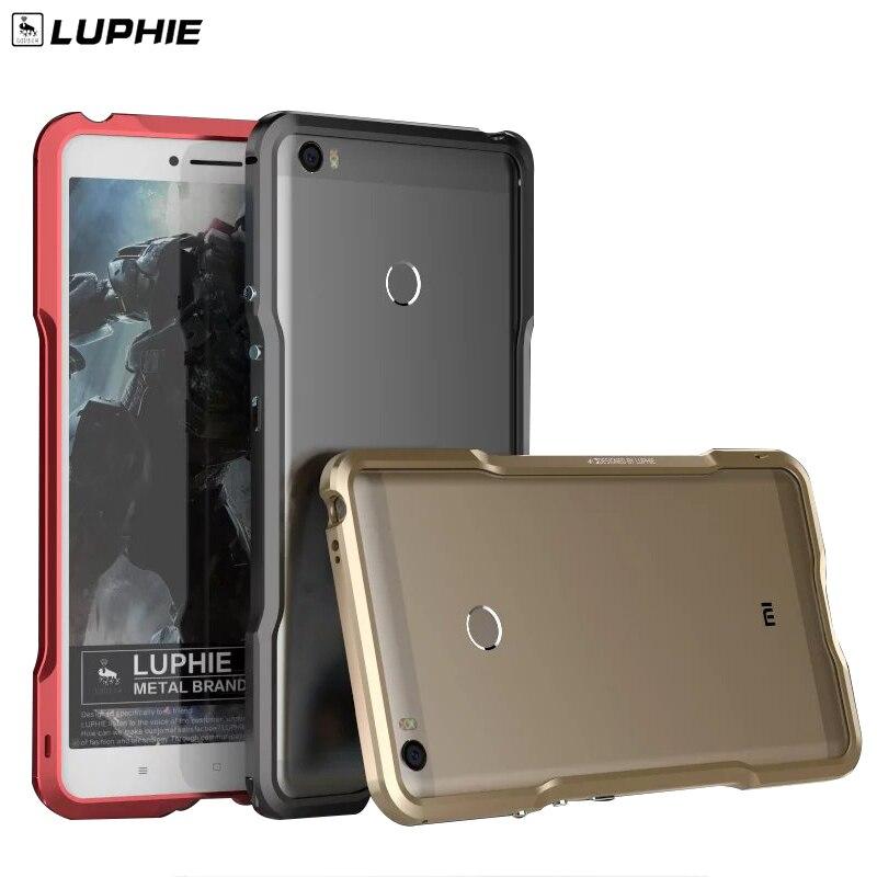 bilder für Xiaomi max Luphie dünne Metall telefon Stoßfall für xiaomi mi max Aluminiumstoßrahmen Telefon Cover + Zurück Leder aufkleber