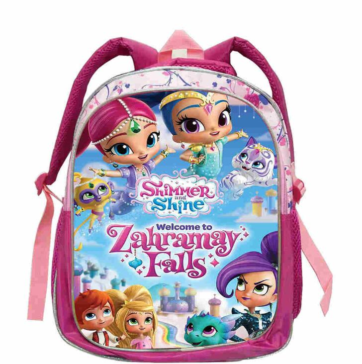 2019 New Shimmer Shine Backpack Boys Girls FNAF School Bags Backpack Shimmer Shine School Bag Children Cartoon Kindergarten Bags