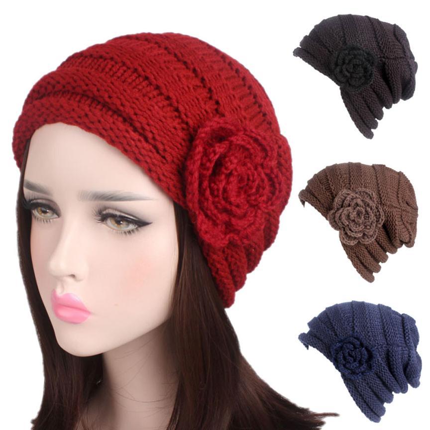 Sparsam Muqgew Beliebte Frauen Damen Winter Stricken Hut Krempe Kappe Jugendliche Stil Bessere Wahl Flawless Atmungs Mode Pfahlkopf