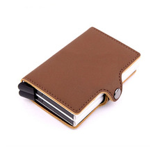 Wholesale High Quality Men Credit Card Holders American European Style Holder Fashion Occident Pu Leather Id