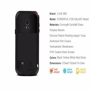 Оригинальный водонепроницаемый металлический чехол LOVE MEI Life для SAMSUNG Galaxy S6 S7 Edge S8 S9 S10 Plus S10E Note 9 8 3 Edge A3 A5 A7 A9 A8s