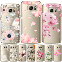 Flower Rose Soft TPU Silicone Back Cover For Samsung Galaxy