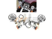 Señal de vuelta LED Luz de Niebla proyector Soporte para Harley Electra Glide FLHX FLHXXX