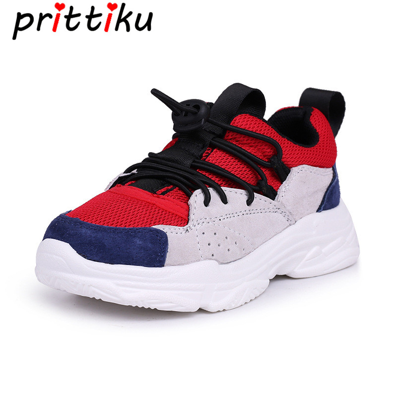 Spring 2018 Toddler Boys Girls Fashion Sneakers Little Kid Brand Designer Red Trainers Big Children Sport School Running Shoes teva orginal universal kids sport sandal toddler little kid big kid