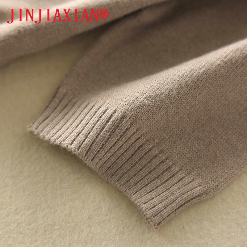 2019 primavera e outono nova camisola feminina casaco de lã pura camisola de lã em torno do pescoço suéter de caxemira de manga curta
