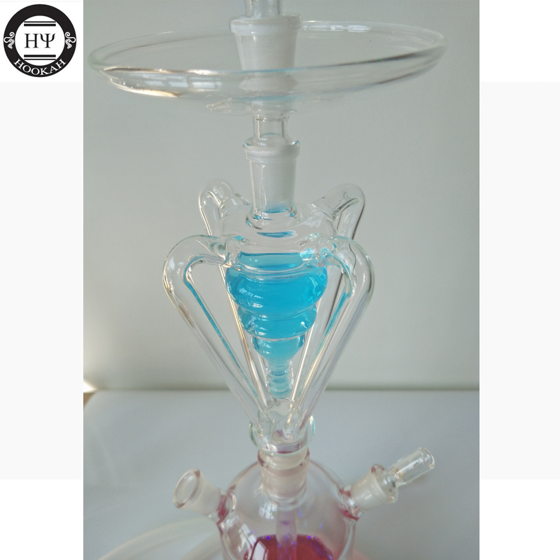 Top Acrylic Hookah Tobacco Smoking Suit with Silicone Hose Charcoal ...
