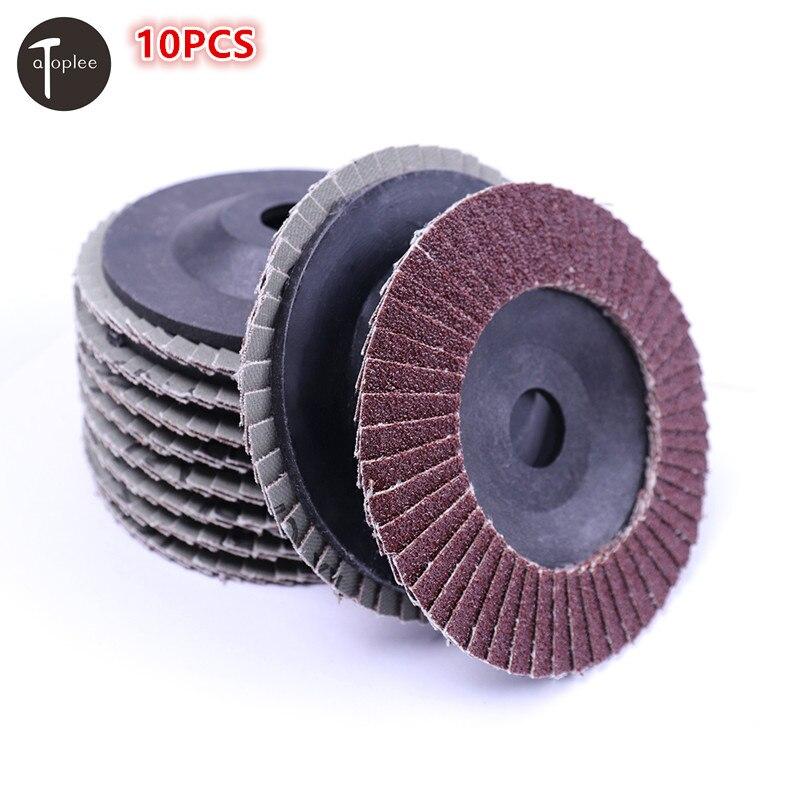 Оптовая продажа 10 шт. 80grit угловая шлифовальная шлифовальный диск dremel инструменты для удаления ржавчины шлифовальный швов