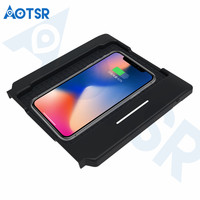 Aotsr Wireless car charger for Lexus GS 2014 2017 Intelligent Infrared Fast Wirless Charging Car for Phone/Sumsang/Nokia/LG