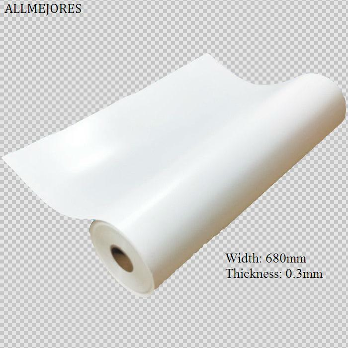 ALLMEJORES 0 3mm Thickness 680mm Width White PV Solar Panel Backsheet TPT back sheet for laminated