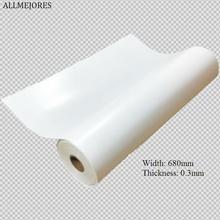 ALLMEJORES 0.3mm kalınlık 680mm genişlik beyaz PV GÜNEŞ PANELI arka tabaka, TPT arka levha lamine GÜNEŞ PANELI 6 metre/grup