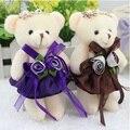 Juguete de peluche oso muñeca ramo de flores de juguetes Mini 12 CM PP del algodón del bebé de las muchachas teddy bear para regalo promocional envío gratis