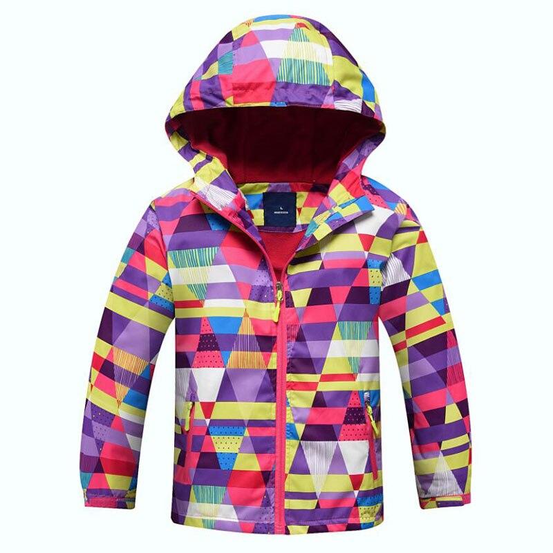 Новый 2018 осень-зима для девочек флисовая куртка малыш Обувь для девочек Пальто для будущих мам Спорт Повседневное детские куртки двухэтажные Водонепроницаемый Куртки