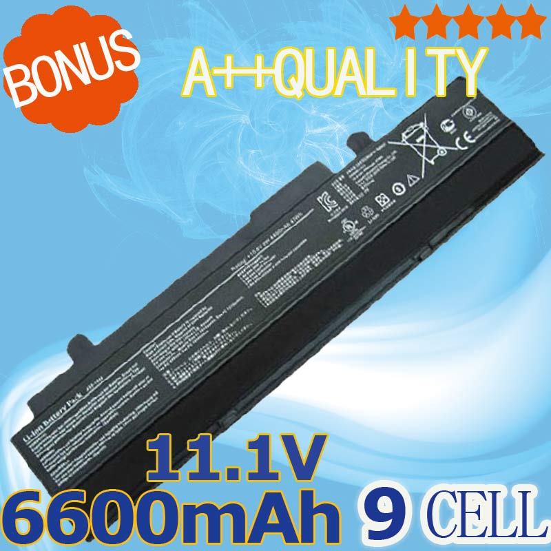 6600mAH Black battery for Asus Eee PC EPC 1215 PC 1215b 1215N 1015b <font><b>1015</b></font> 1015bx 1015px 1015p A31-<font><b>1015</b></font> <font><b>A32</b></font>-<font><b>1015</b></font> AL31-<font><b>1015</b></font> image