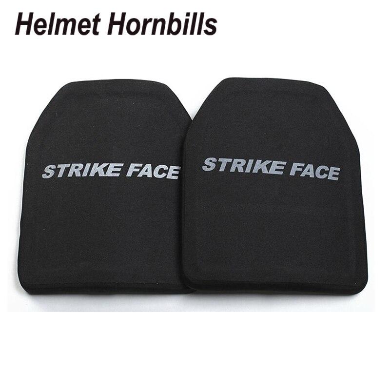 Helmet Hornbills 2pcs 10x12 Alumina&PE NIJ Lvl IV Bulletproof Panel/ Al2O3 Level 4 Stand Alone Ballistic Panel/level 4 Plates kingfisher readers flight level 4 reading alone