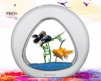 SUNSUN acrylic aquarium sinh thái fish tank văn phòng máy tính để bàn sáng tạo aquarium tích hợp lọc LED hệ thống ánh sáng YA-02 kích thước lớn