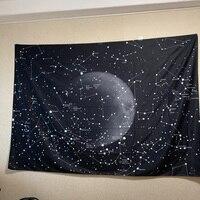 Enipate Psychedelic Созвездие Галактика космический узор гобелен настенный легкий вес полиэстер ткань Декор на стену для дома